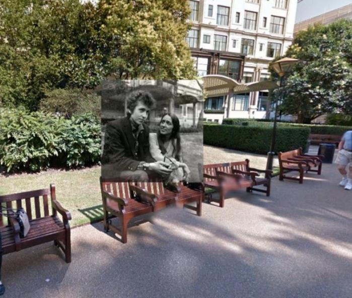In questa foto Bob Dylan e Joan Baez sono sul retro del Savoy Hotel di Londra: la foto è stata scattata il 27 Aprile del '65.