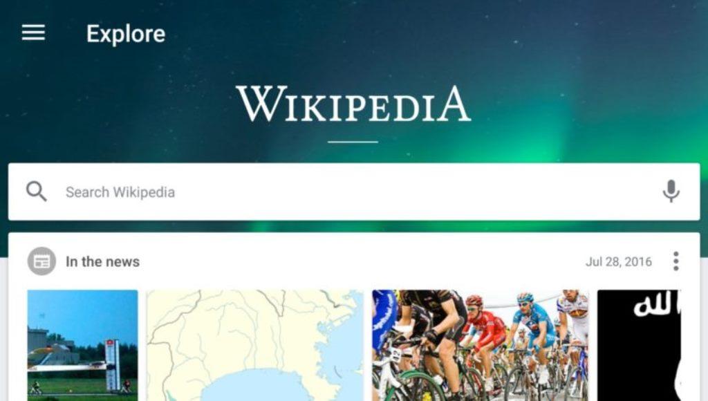 Wikipedia, si aggiorna l'app Android