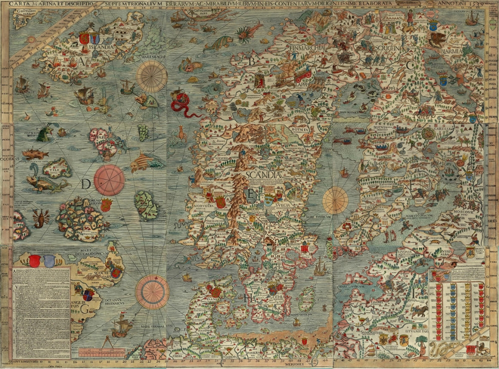 mappa mostri marini
