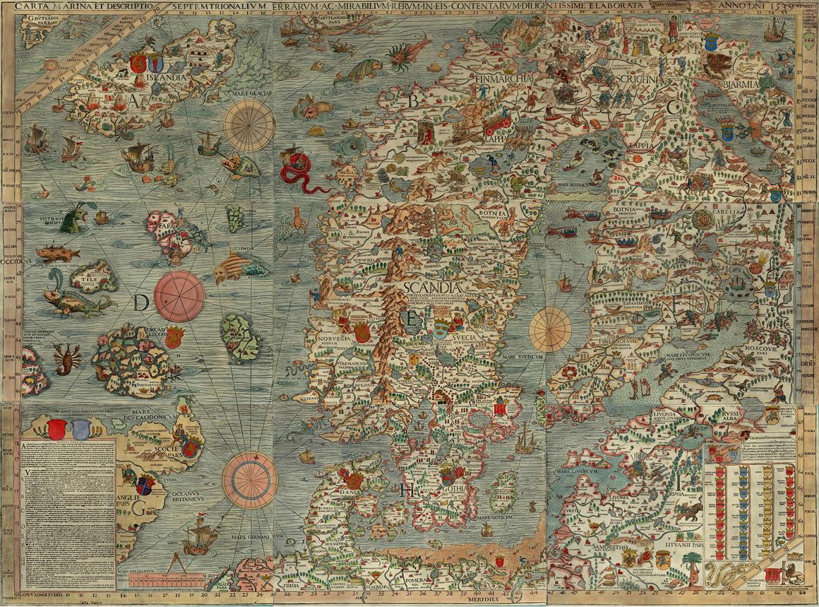 I mostri marini del XVI secolo
