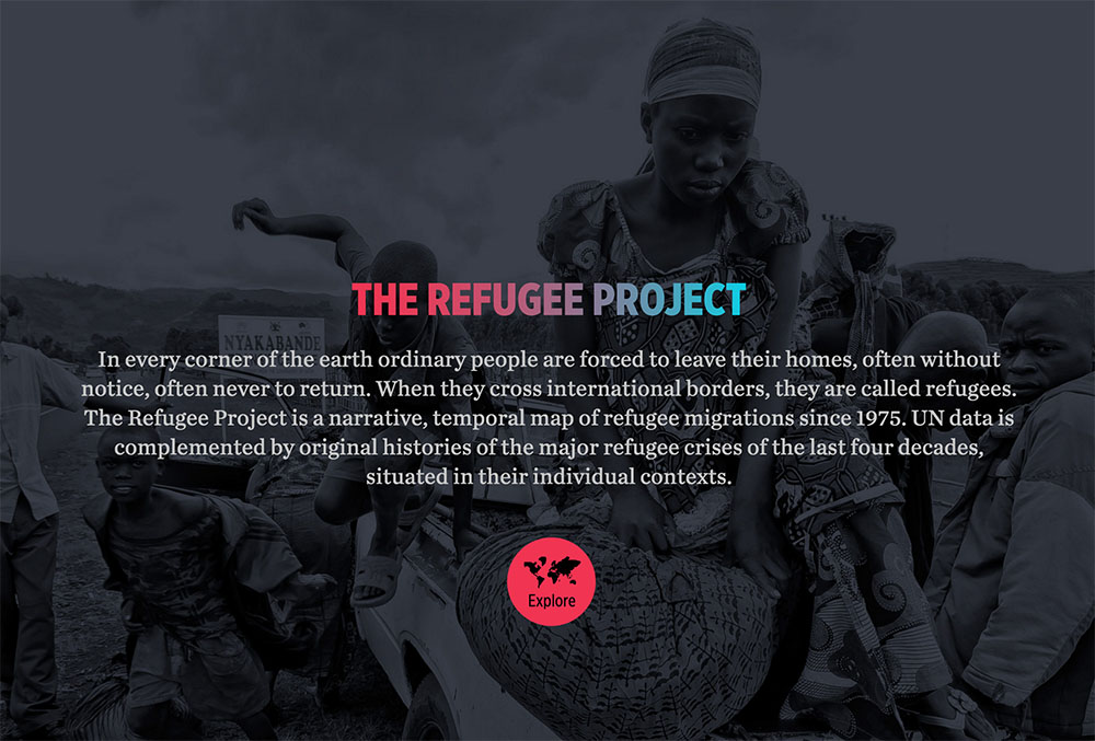 The Refugee Project, l'infografica sui flussi migratori umani