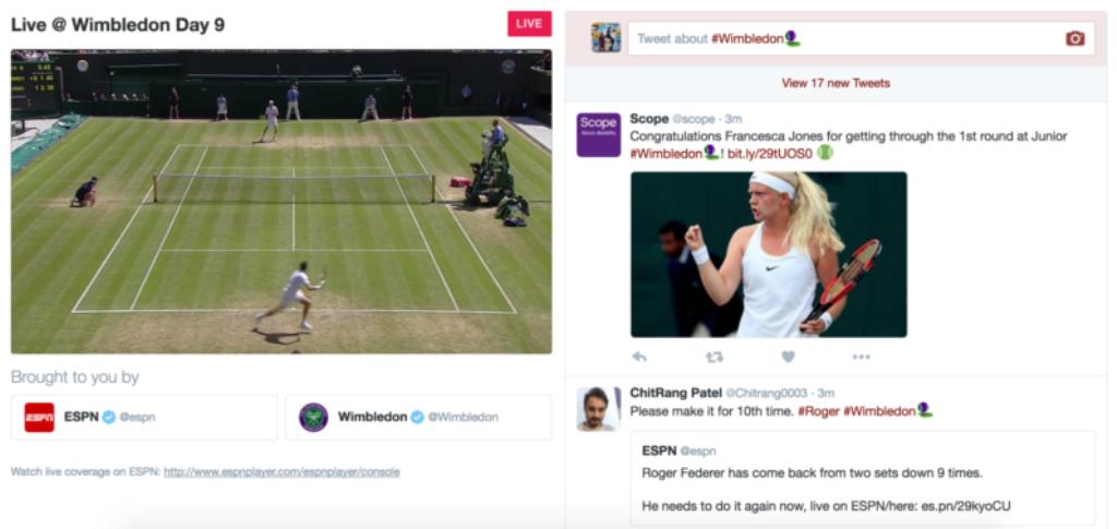 Il Torneo di Wimbledon live su Twitter