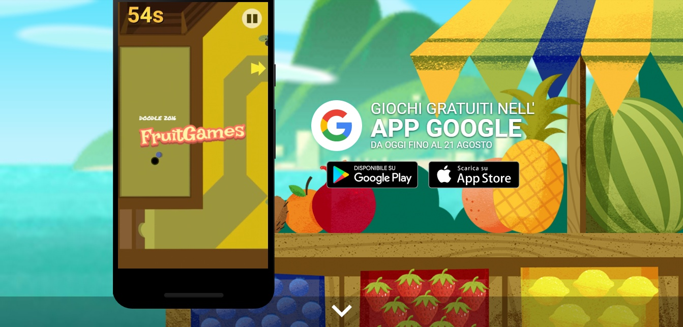 Rio 2016, i mini giochi Google Doodle Fruit Game
