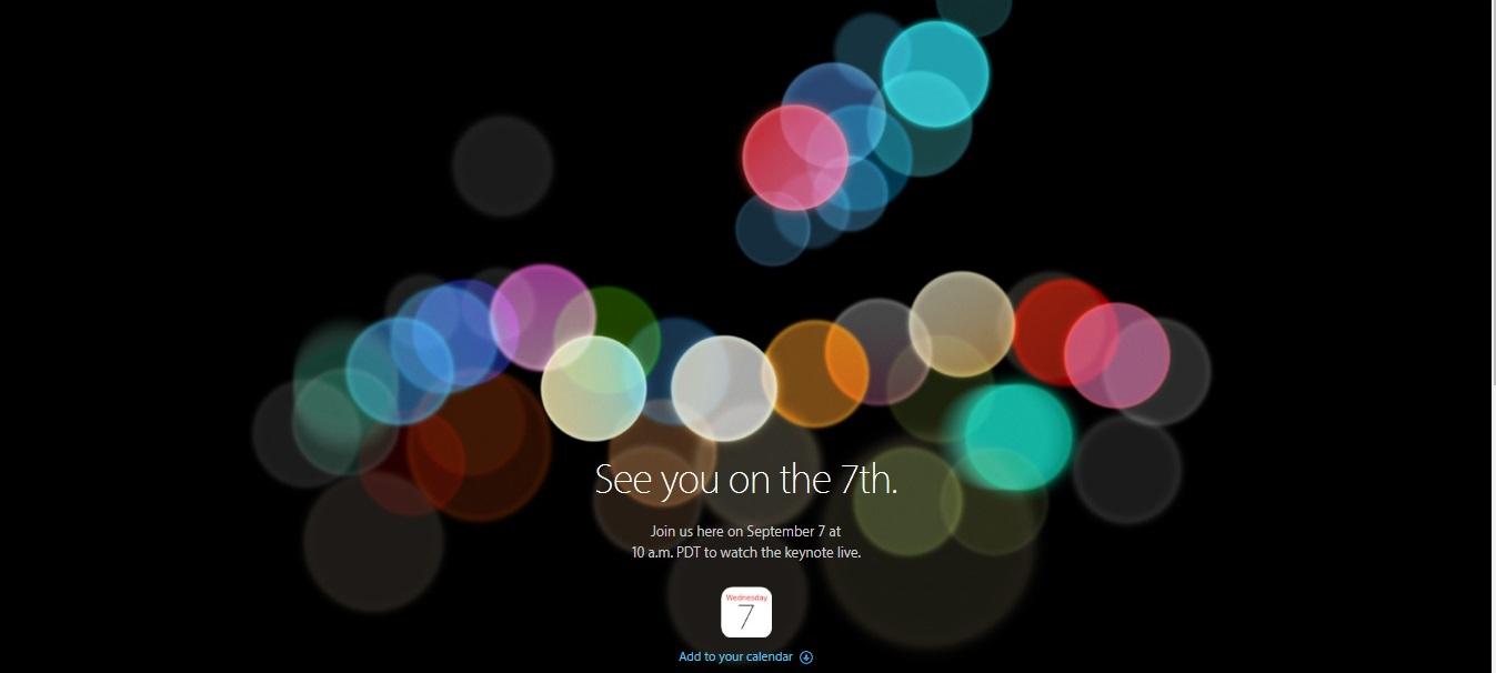iPhone 7, la presentazione il 7 settembre