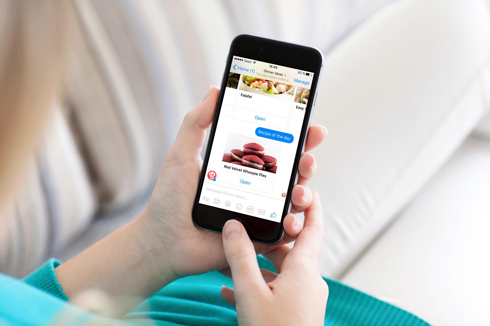 Dinner Ideas, il bot di Messenger come aiuto in cucina