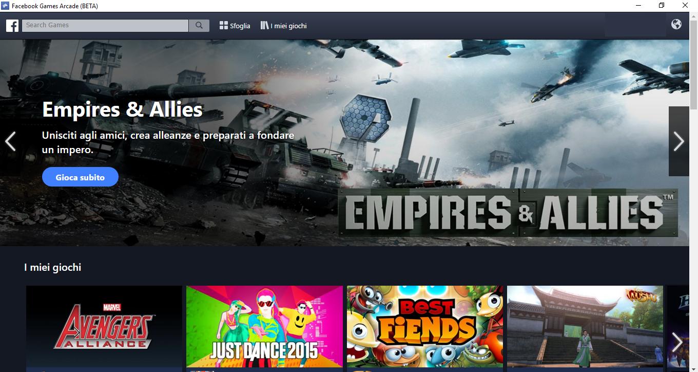 Facebook Games Arcade, con Unity inizia la guerra a Steam