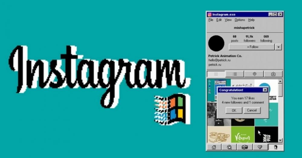 Instagram su Windows 95 #LegaNerd