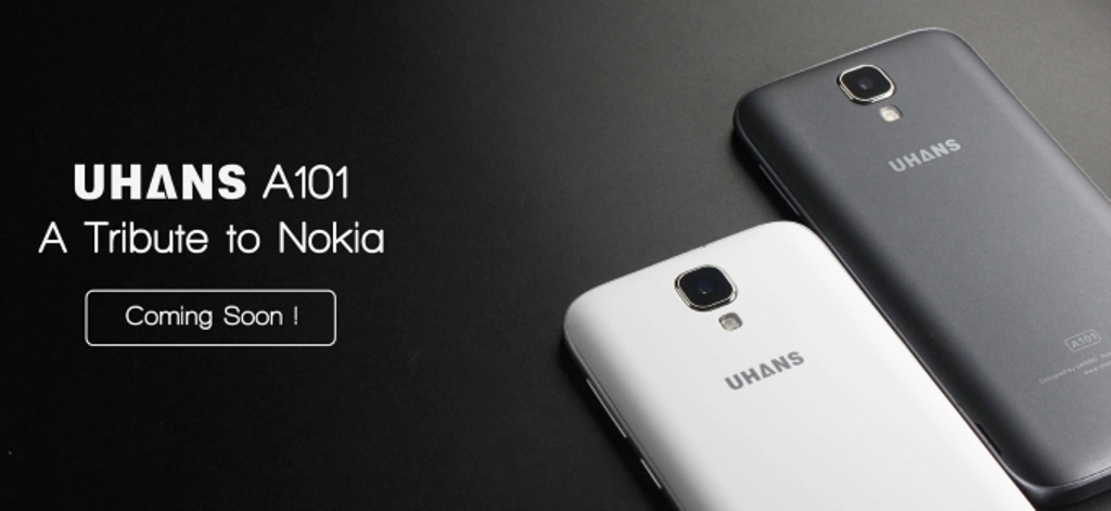 Uhans A101, lo smartphone cinese che si ispira a Nokia