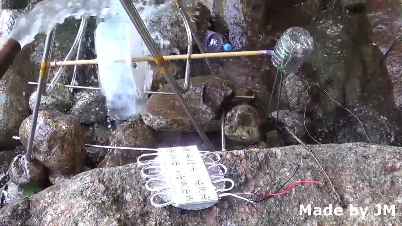 Caricabatterie fai da te a energia idroelettrica