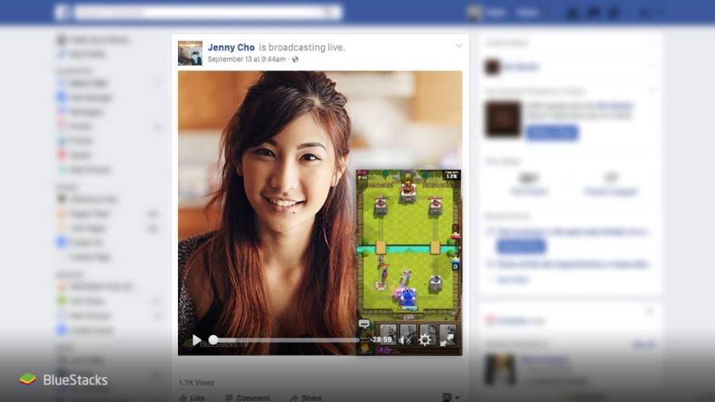 BlueStacks integra le dirette su Facebook Live