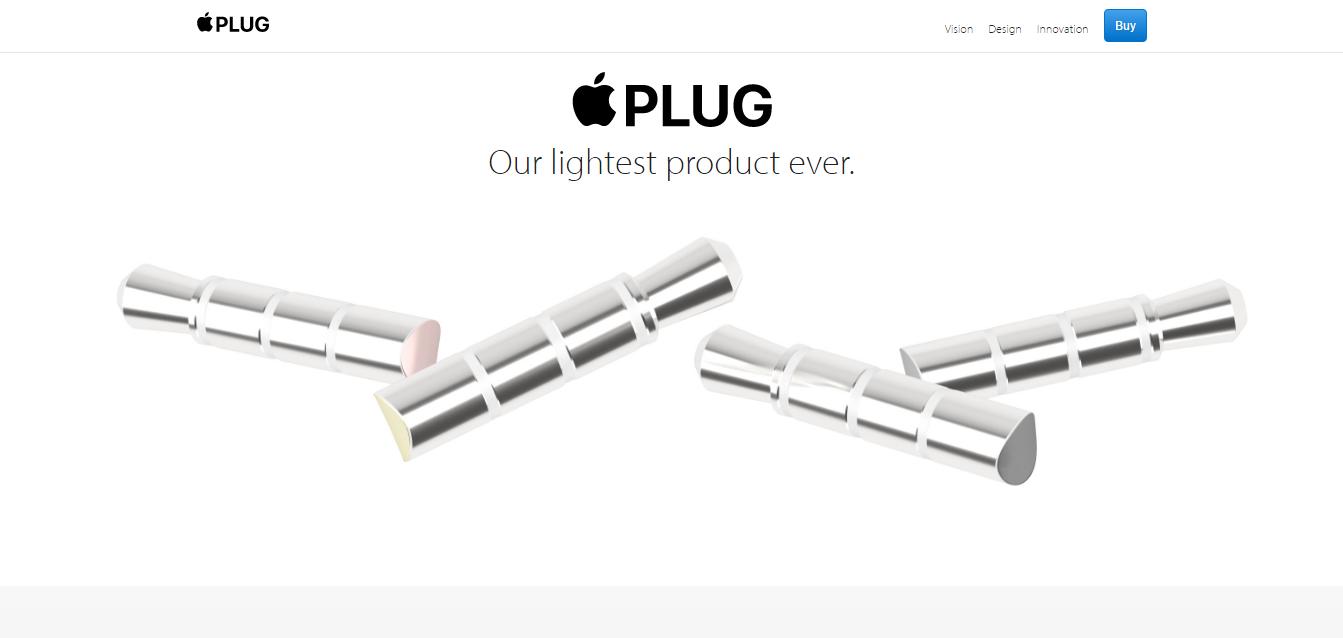 Apple Plug, l'accessorio che prende in giro iPhone 7