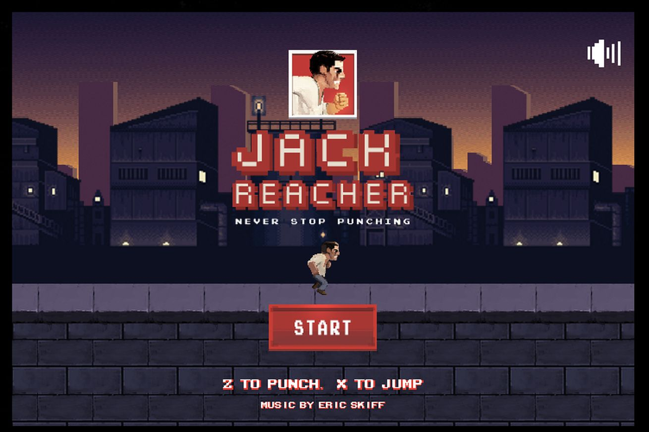 Jack Reacher: Never Stop Punching, il web game