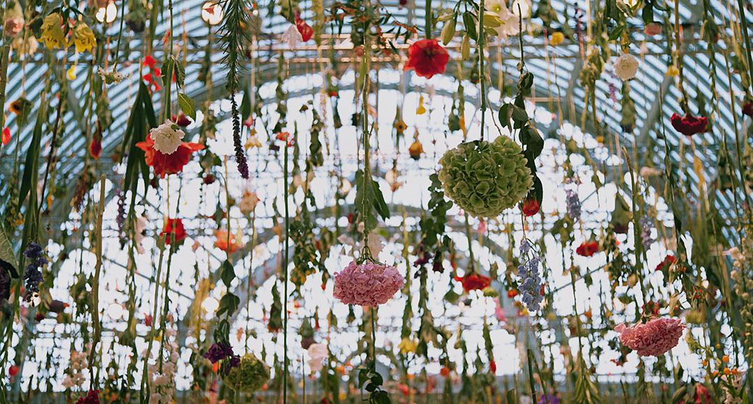 Le installazioni floreali di Rebecca Law