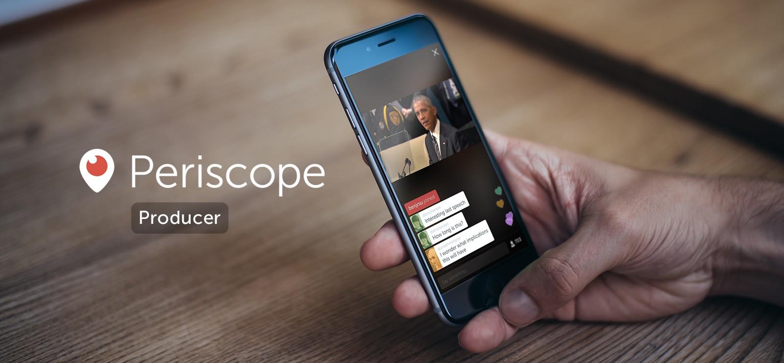 Periscope Producer, lo streaming anche senza lo smartphone
