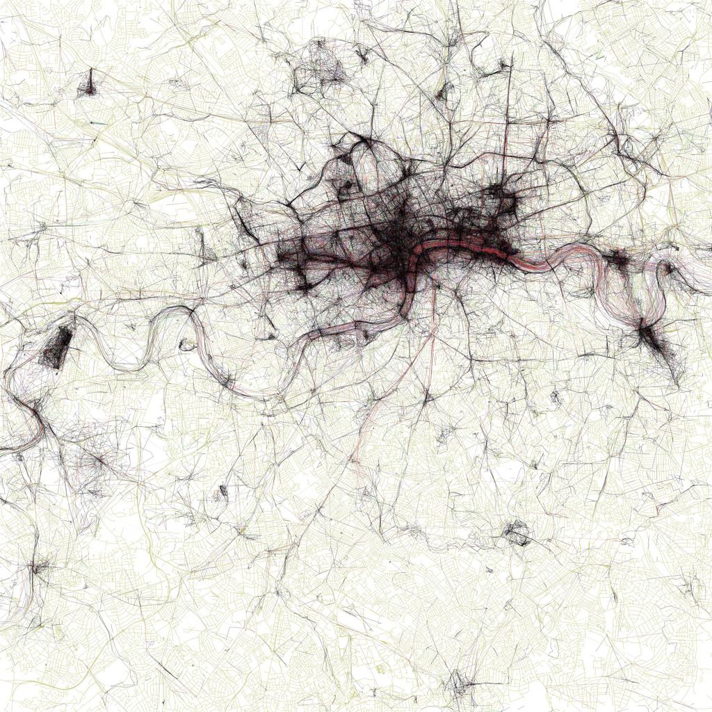Le mappe dei luoghi più fotografati delle città