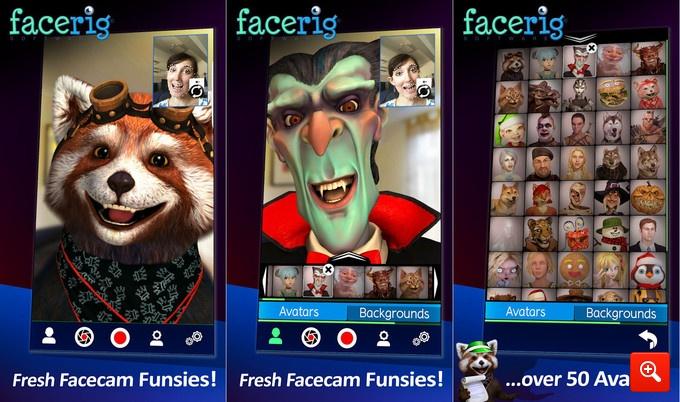 FaceRig, l'app per trasformarsi in personaggi di fantasia
