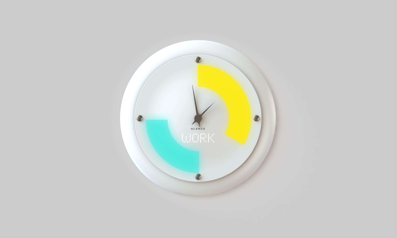 Glance Clock, l'orologio da parete diventa smart