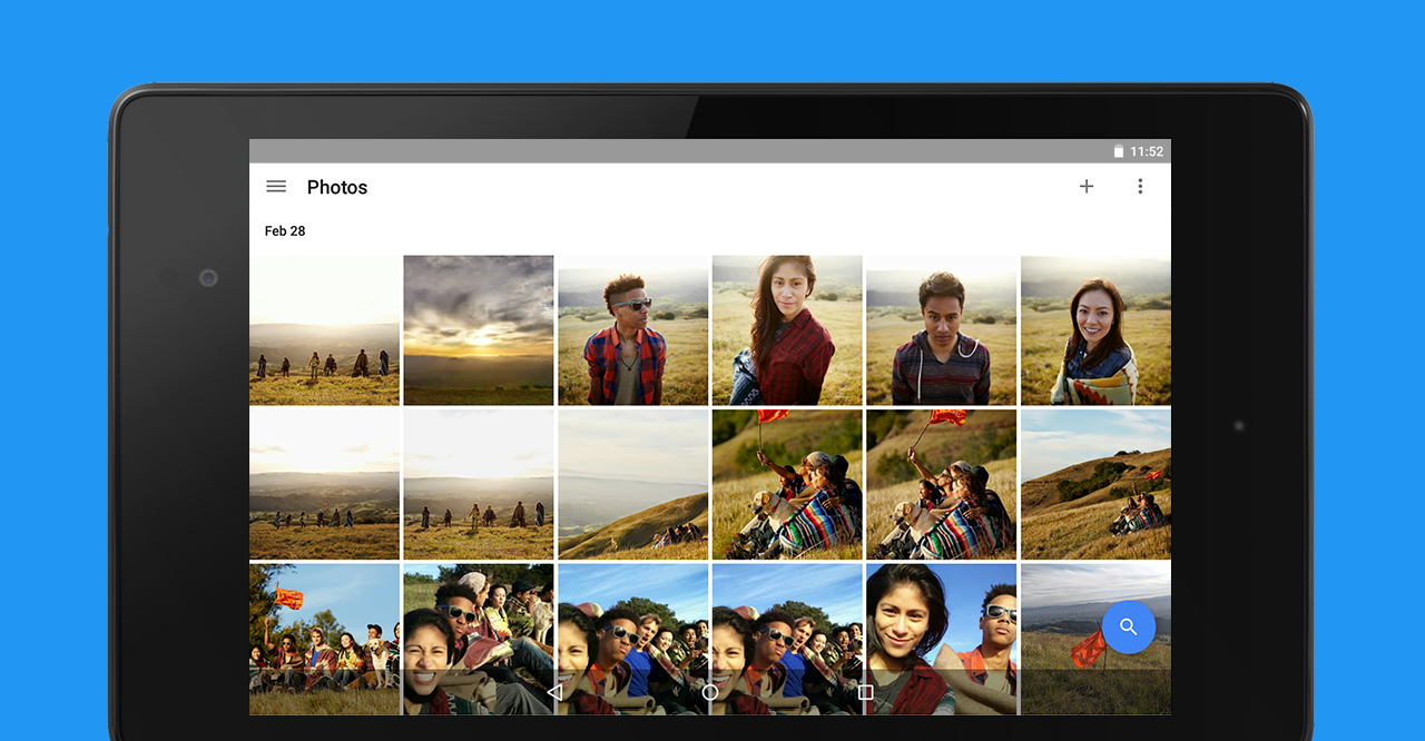 Google Foto, interfaccia ottimizzata su tablet Android