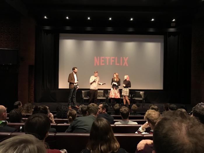 Dopo la proiezione si è tenuta una breve sessione di domande e risposte con Charlie Brooker, il regista James Hawes e parte del cast.