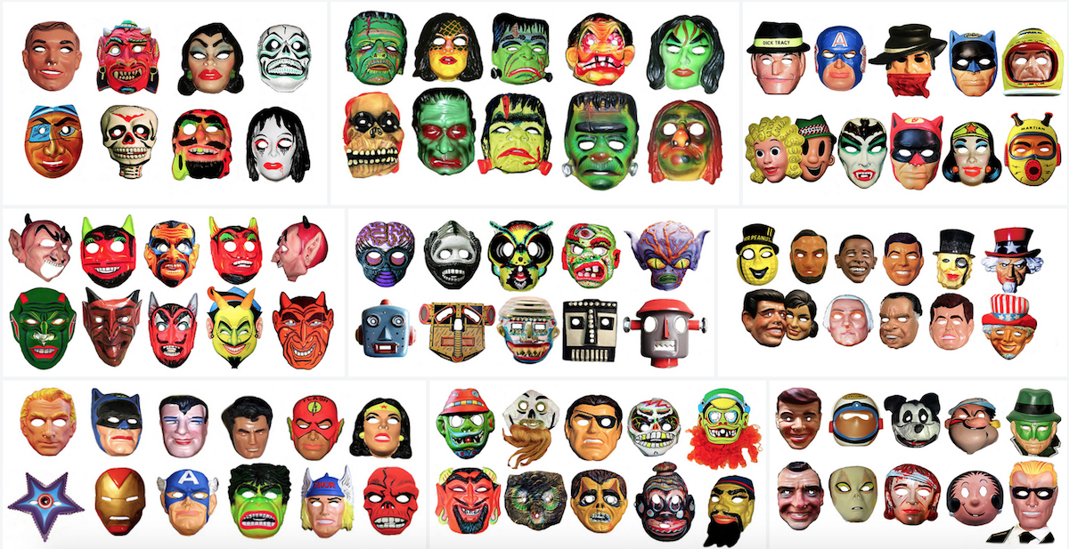 Una galleria di maschere di Halloween vintage
