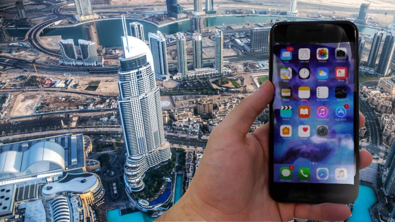 iPhone 7 Plus lanciato dal grattacielo più alto del mondo