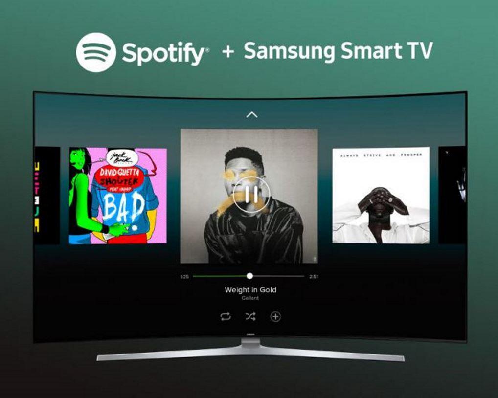 Spotify, l'app si aggiorna sugli Smart Tv Samsung