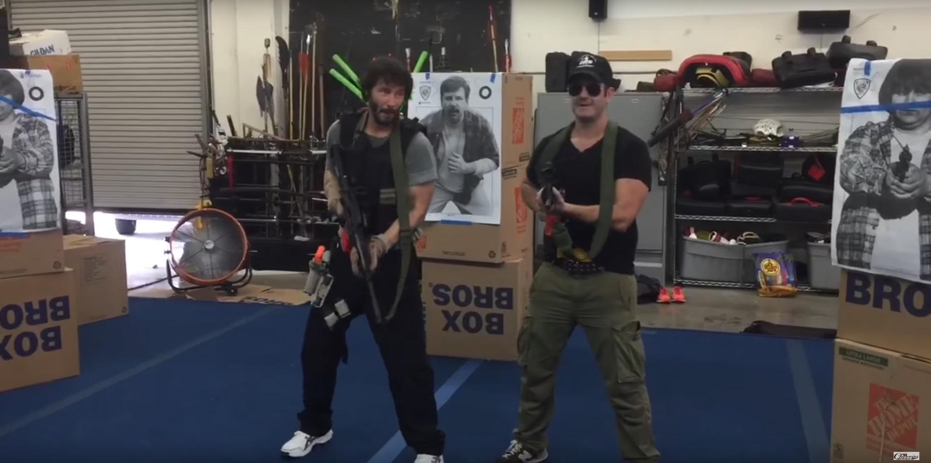 John Wick 2, il training di Keanu Reeves