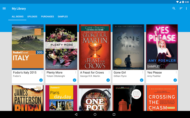 google play libri permette di acquistare un libro da