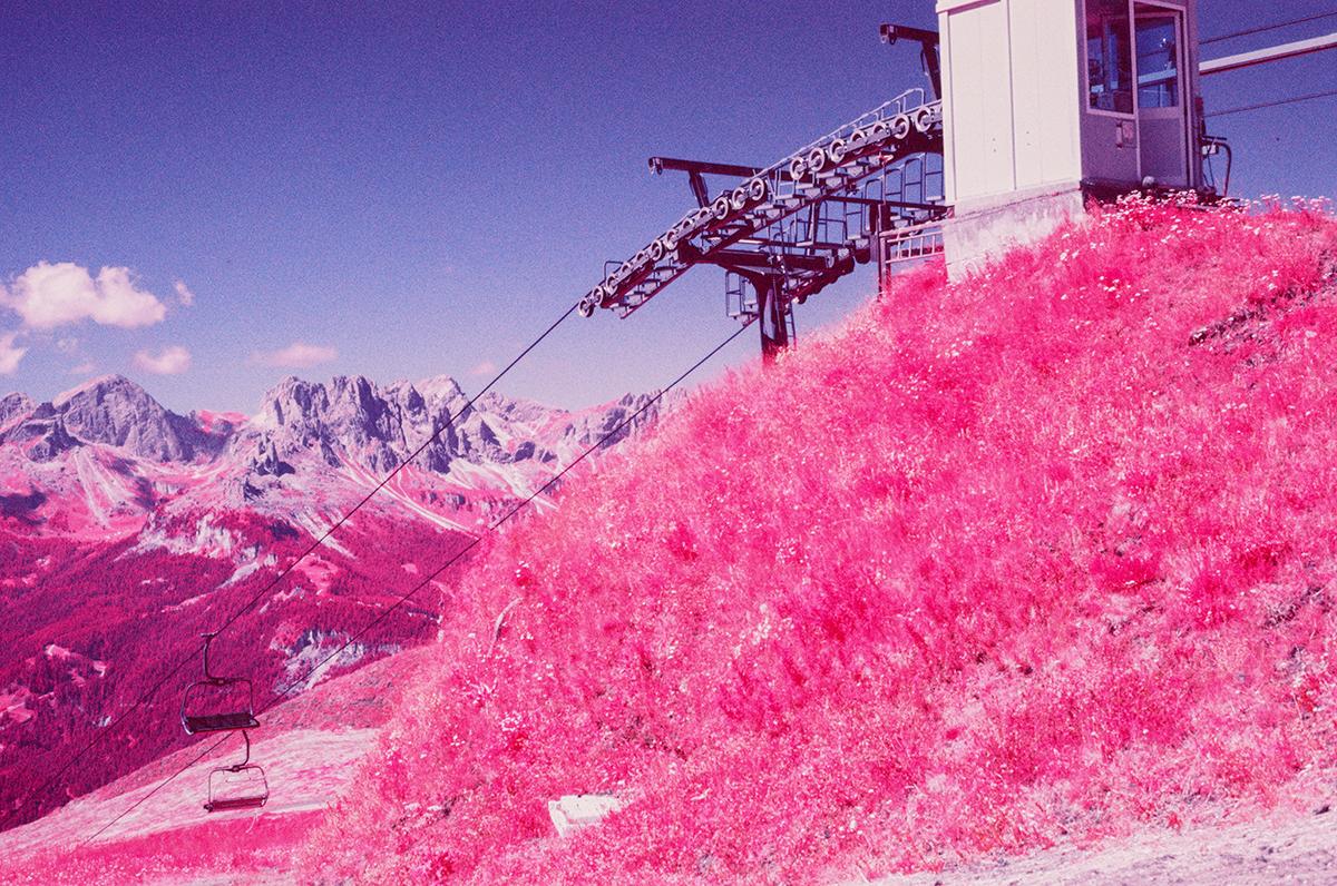 Le Dolomiti fotografate in Infrarosso