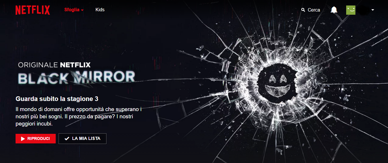 Netflix, la pubblicità di Black Mirror con Adblock