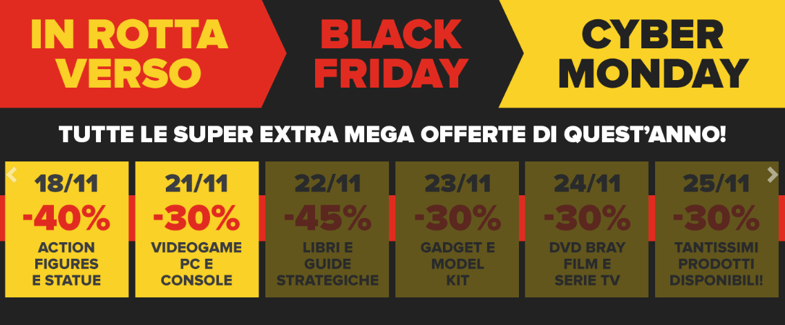 Sconti sui videogame per il Black Friday di Multiplayer.com