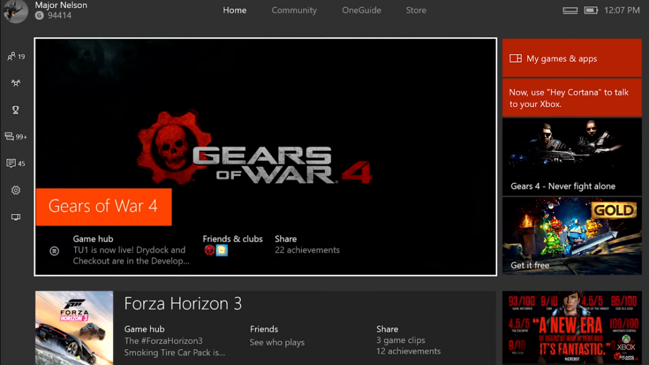 Xbox One: disponibile l'Holiday Update