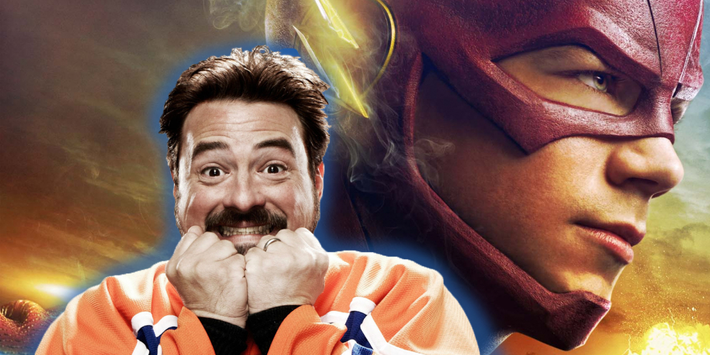 excited-kevin-smith-headshot-superimposed-on-promotional-image-of-grant-gustin-as-the-flash
