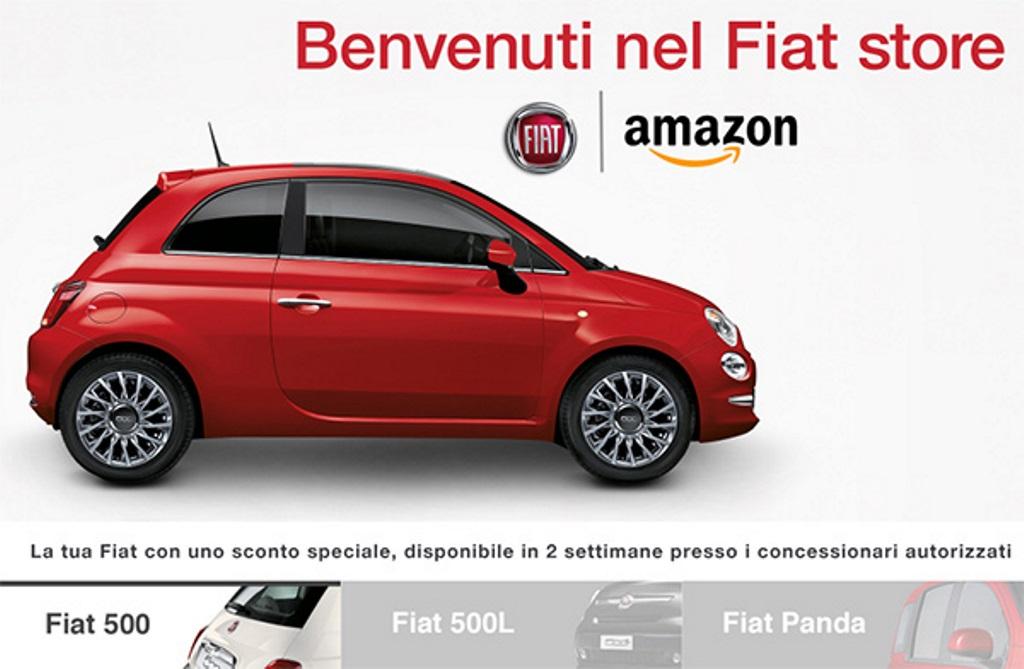 Fiat, arriva il primo store virtuale su Amazon.it