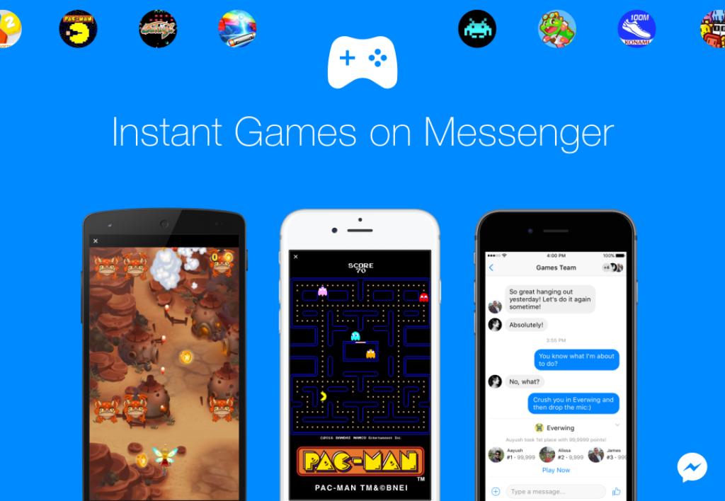 Facebook, gli Instant Games per Messenger