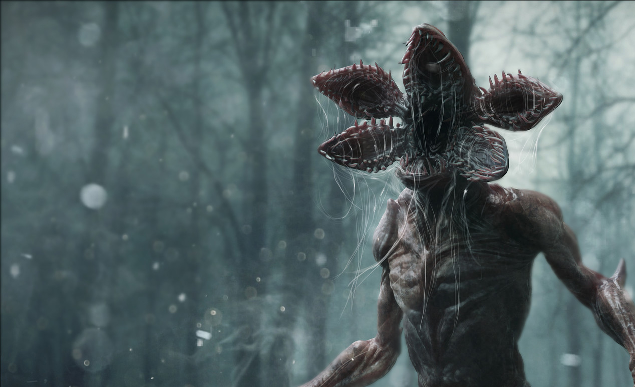 Stranger Things, il costume animato del Demogorgon
