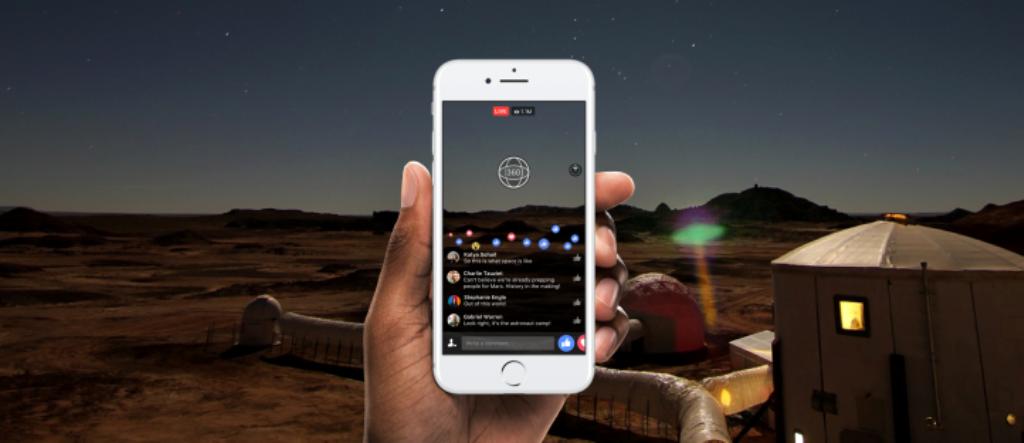 Facebook, nel 2017 le dirette anche a 360°