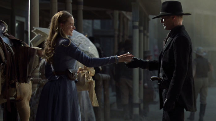 Westworld - Dolores and man in black