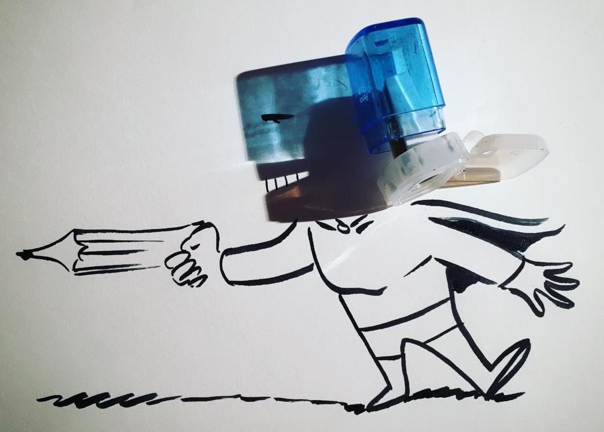 Vignette disegnate a partire da semplici ombre