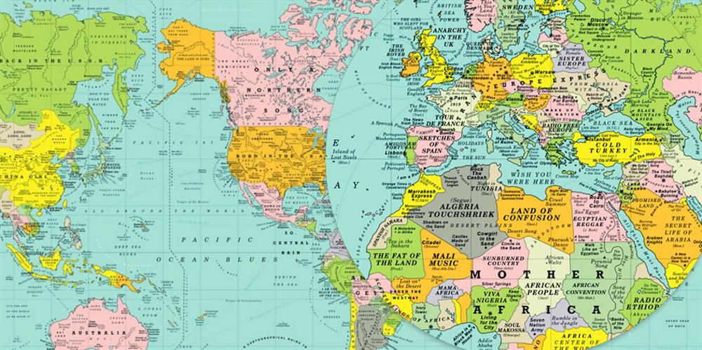 Una mappa del mondo fatta di canzoni