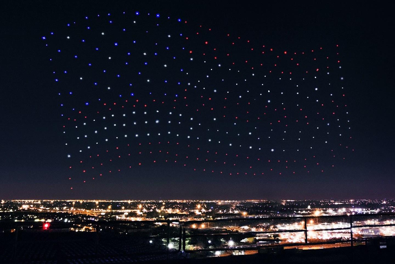 Gli spettacolari droni di Lady Gaga al Super Bowl 2017