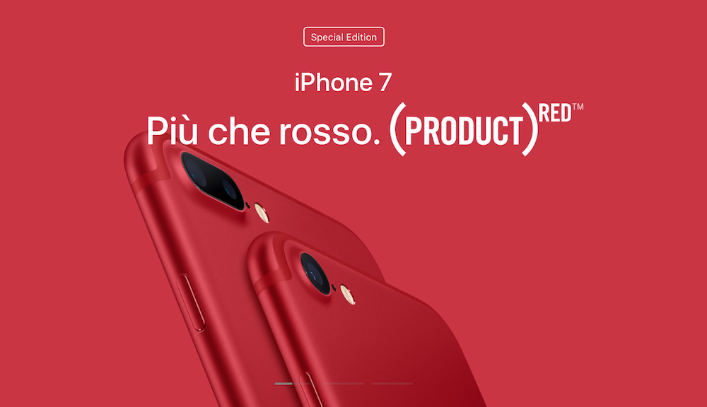 Apple presenta il nuovo iPad e il nuovo iPhone 7 rosso
