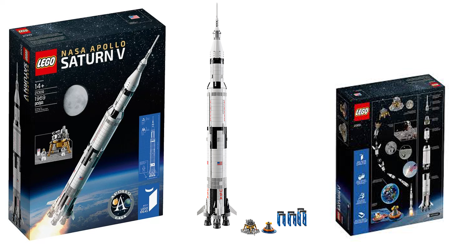 21309 NASA Apollo Saturn V: il nuovo Lego Ideas è alto un metro