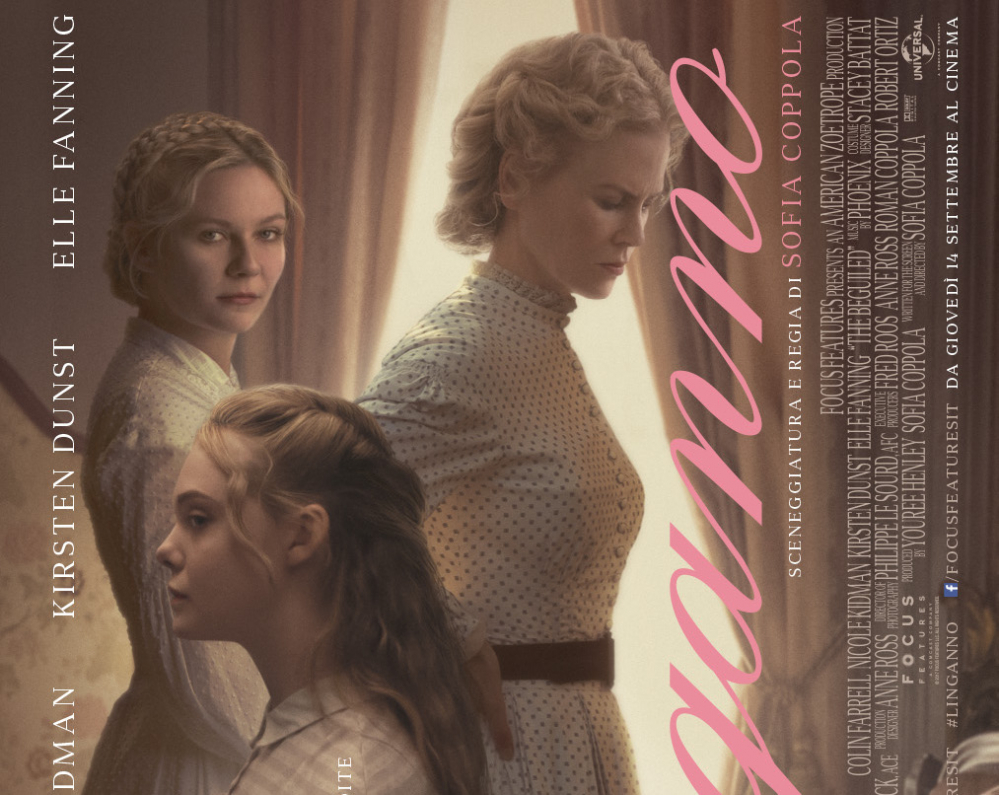 The Beguiled: l'Inganno, Nicole Kidman e Kirsten Dunst nel nuovo poster