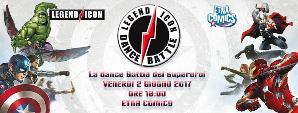 Legend Icon Dance Battle ad Etna Comics
