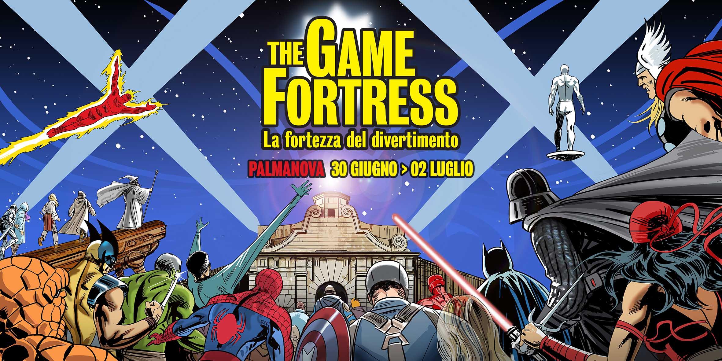 The Game Fortress, la Fortezza del divertimento dal 30 giugno al 2 luglio