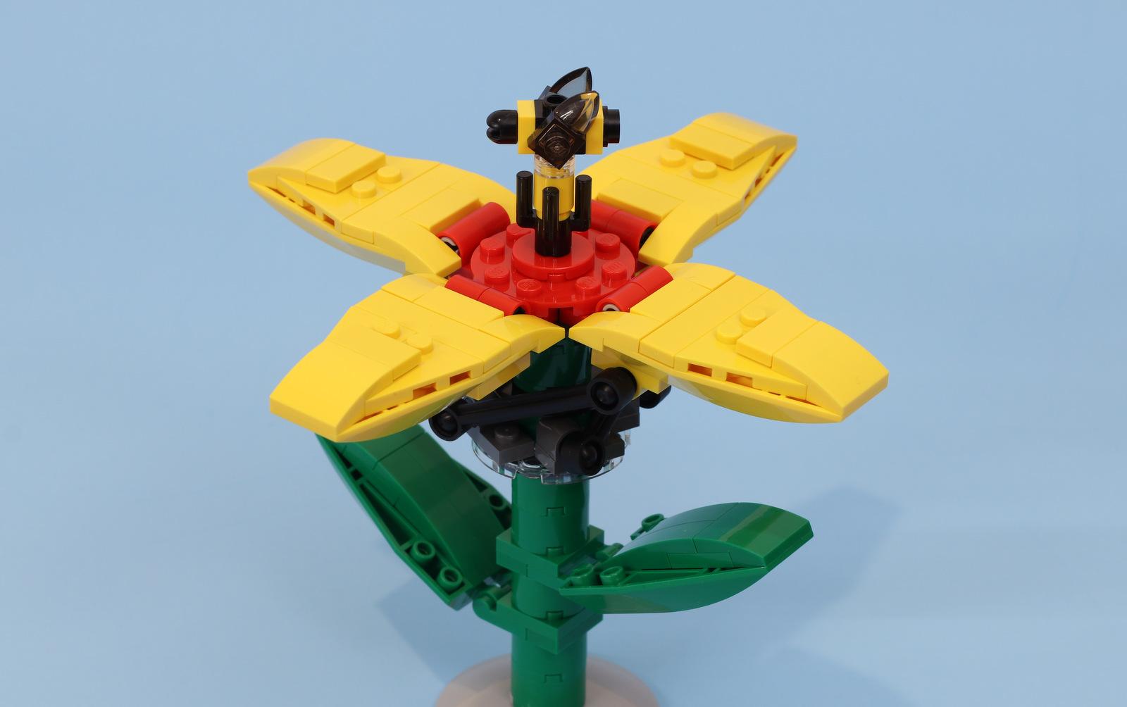 fiore meccanico lego