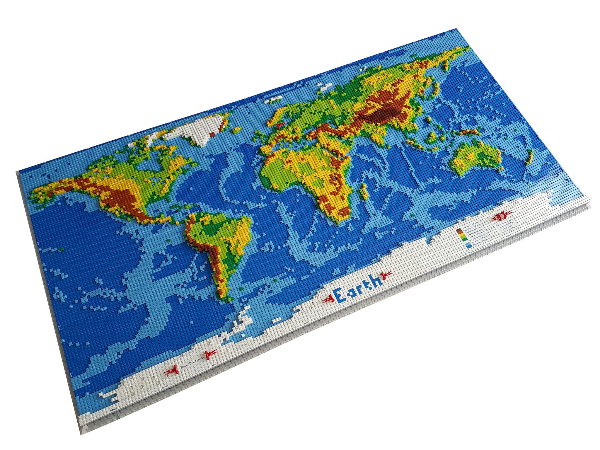 Cartina Mondo Lego.Tenete Traccia Delle Vostre Vacanze Su Questa Enorme Cartina Geografica Lego