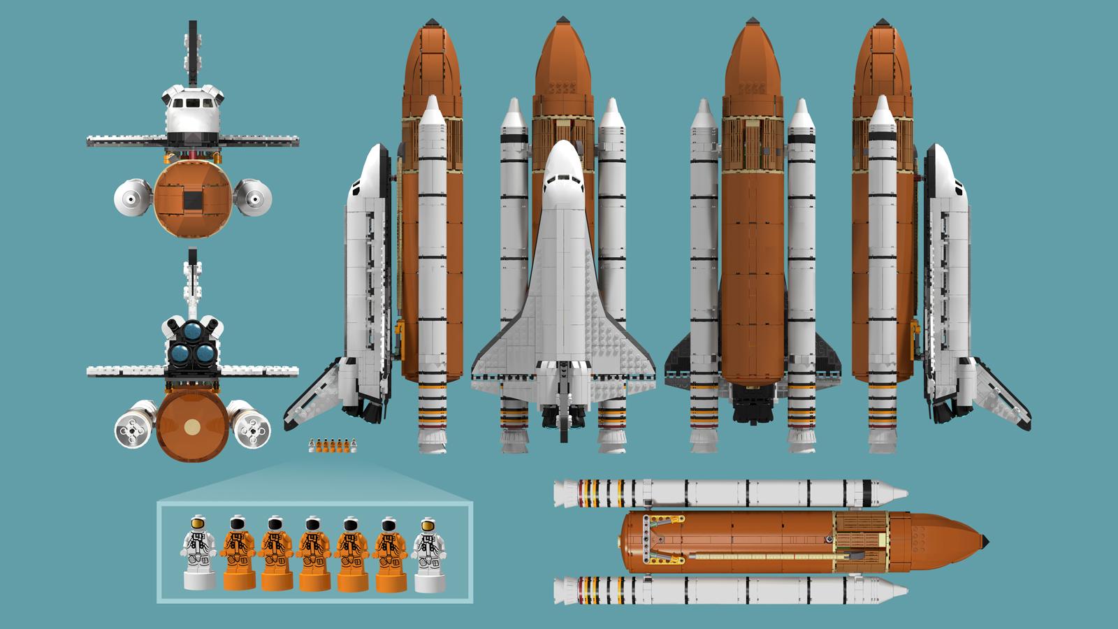 space shuttle lego ideas