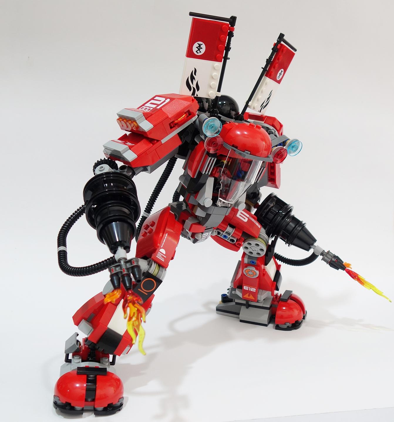 Interessante Modifica Set Lego Mech Fuoco